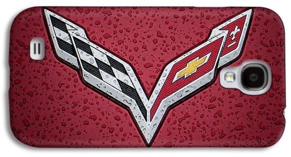 Car Galaxy S4 Case - C7 Badge Red by Douglas Pittman