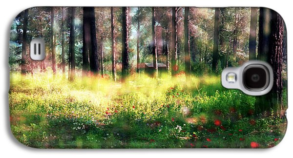Galaxy S4 Case featuring the photograph Cabin In The Woods In Menashe Forest by Dubi Roman