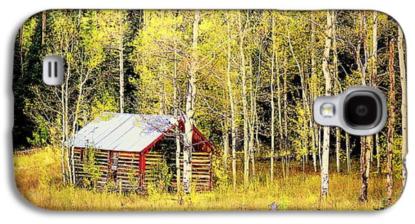 Galaxy S4 Case featuring the photograph Cabin In The Golden Woods by Karen Shackles