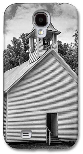 Cades Cove Primitive Baptist Church - Bw W Border Galaxy S4 Case