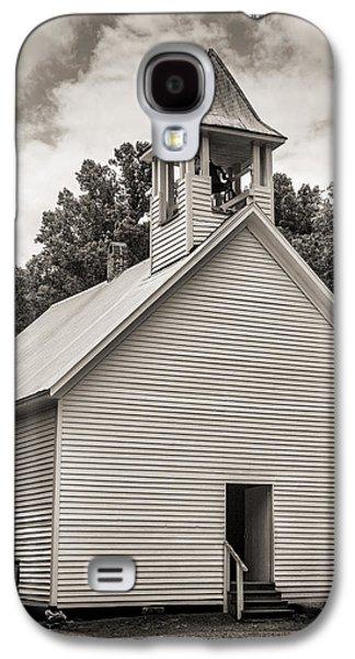 Cades Cove Primitive Baptist Church - Toned Bw W Border Galaxy S4 Case