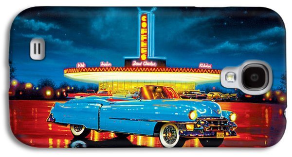1980s Galaxy S4 Cases - Cadillac Diner Galaxy S4 Case by MGL Studio - Chris Hiett