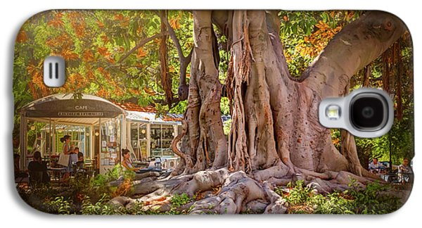 Cafe By The Grand Old Tree Lisbon Portugal Galaxy S4 Case