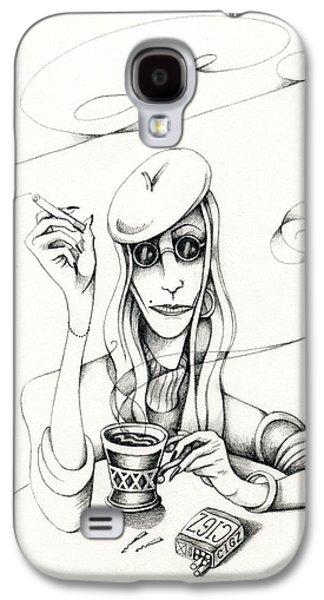 Cafe Lady Galaxy S4 Case