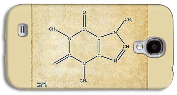 Caffeine Molecular Structure Vintage Galaxy S4 Case by Nikki Marie Smith