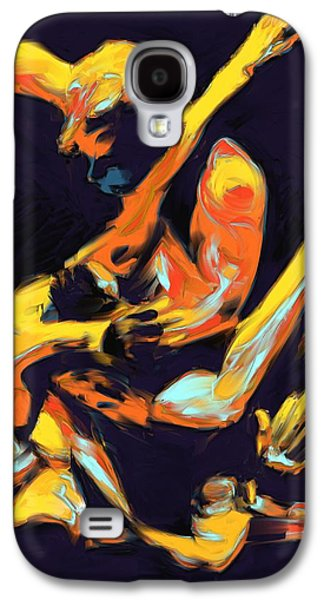 Cage Paintings Galaxy S4 Cases - Cage Fighters Galaxy S4 Case by Deborah Lee