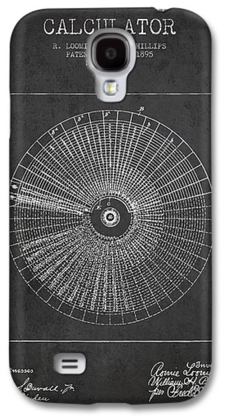Calculator Patent From 1895 - Charcoal Galaxy S4 Case