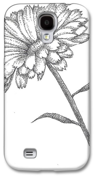 Studio Drawings Galaxy S4 Cases - Calendula Galaxy S4 Case by Christy Beckwith