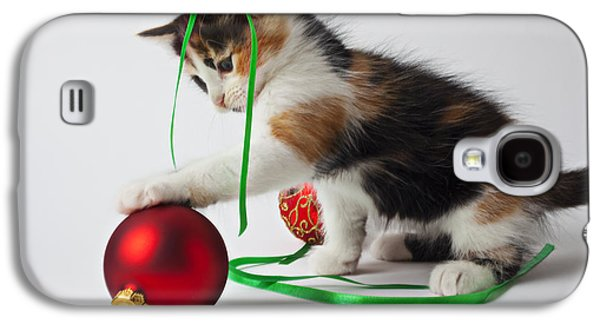 Calico Kitten And Christmas Ornaments Galaxy S4 Case