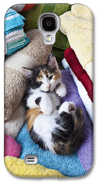 Calico Kitten On Towels Galaxy S4 Case