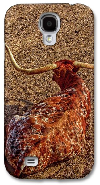 Calico Longhorn Galaxy S4 Case by Linda Unger