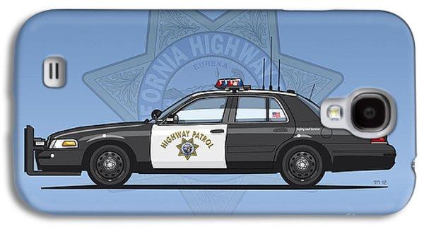 California Highway Patrol Ford Crown Victoria Police Interceptor Galaxy S4 Case by Monkey Crisis On Mars