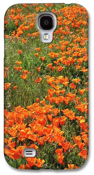 California Poppies- Art By Linda Woods Galaxy S4 Case by Linda Woods