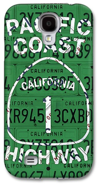 California Route 1 Pacific Coast Highway Sign Recycled Vintage License Plate Art Galaxy S4 Case