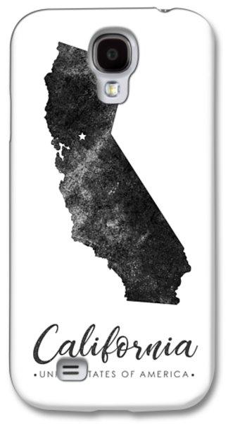 California State Map Art - Grunge Silhouette Galaxy S4 Case