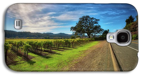 California Wine County Road- Sonoma Vineyard And Lone Oak Tree Galaxy S4 Case by Jennifer Rondinelli Reilly - Fine Art Photography