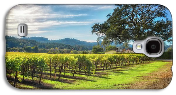 California Wine County - Sonoma Vineyard And Lone Oak Tree Galaxy S4 Case by Jennifer Rondinelli Reilly - Fine Art Photography