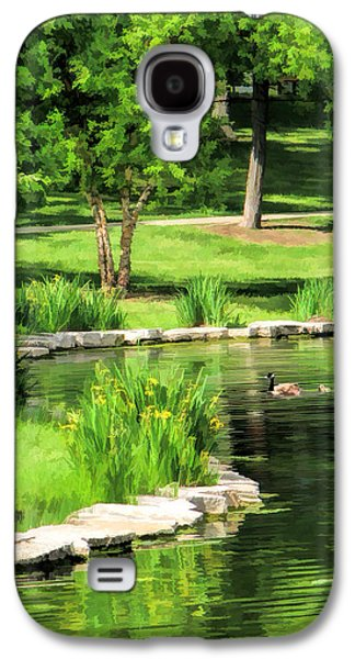 Galaxy S4 Case featuring the painting Calm Lake Ellyn by Christopher Arndt