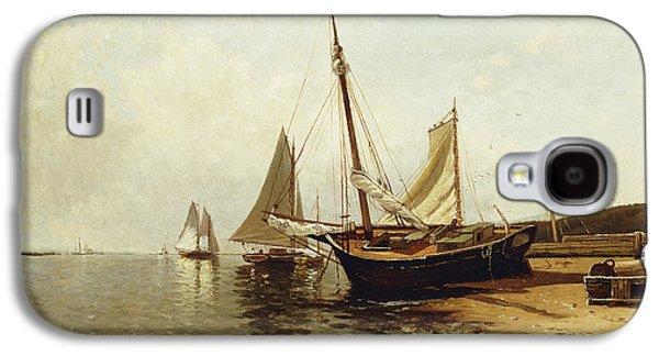 Calm Morning, Portland Harbor Galaxy S4 Case by Alfred Thompson Bricher