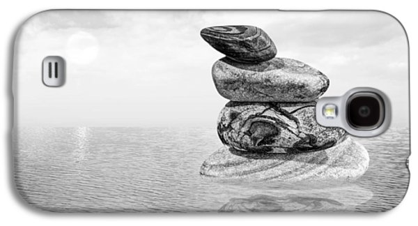 Calm Waters In Black And White Galaxy S4 Case by Gill Billington