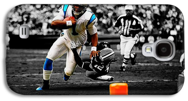 Cam Newton Eye On The Prize Galaxy S4 Case by Brian Reaves