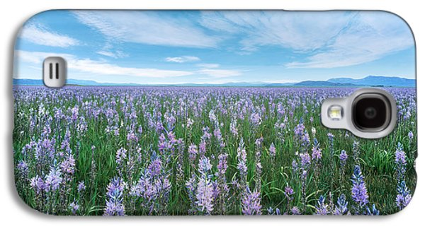 Camas Blue Galaxy S4 Case by Leland D Howard