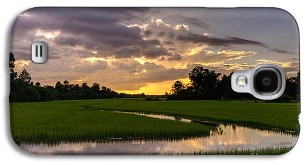 Cambodia Rice Fields Sunset Galaxy S4 Case by Mike Reid