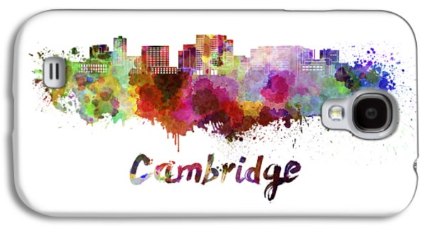 Cambridge Ma Skyline In Watercolor Galaxy S4 Case