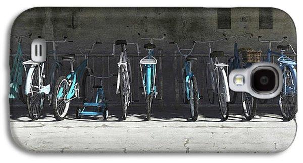 Campbell Blue Bike Rack Galaxy S4 Case by Cynthia Decker
