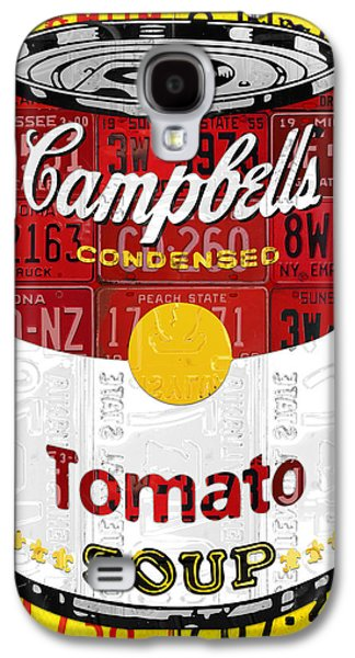 Campbells Tomato Soup Can Recycled License Plate Art Galaxy S4 Case