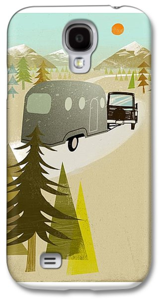 Camper Driving Into The Mountains Galaxy S4 Case by Gillham Studios