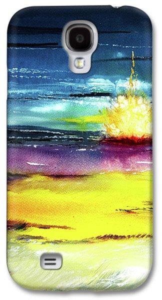 Campfire Galaxy S4 Case by Anil Nene