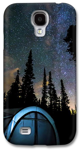 Galaxy S4 Case featuring the photograph Camping Star Light Star Bright by James BO Insogna