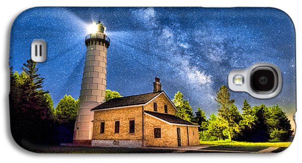 Cana Island Lighthouse Milky Way In Door County Wisconsin Galaxy S4 Case