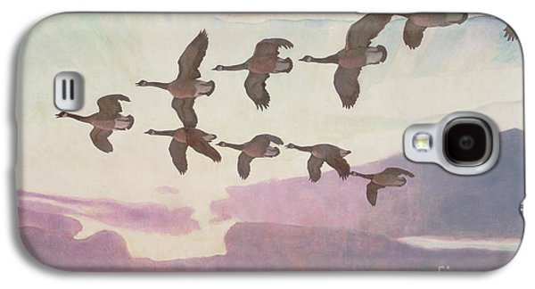 Canada Geese In Spring Galaxy S4 Case by Newell Convers Wyeth