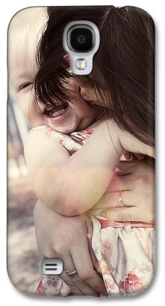 Candid Little Girl With Mother In The Autumn Park Galaxy S4 Case by Jorgo Photography - Wall Art Gallery