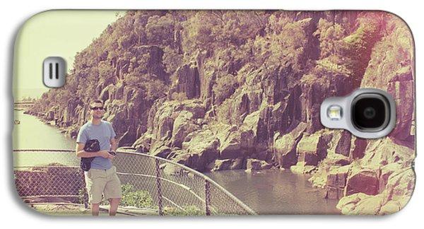 Candid Retro Man On Travel Tour Of Tasmania Galaxy S4 Case by Jorgo Photography - Wall Art Gallery