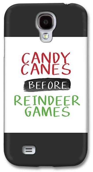 Candy Canes Before Reindeer Games- Art By Linda Woods Galaxy S4 Case