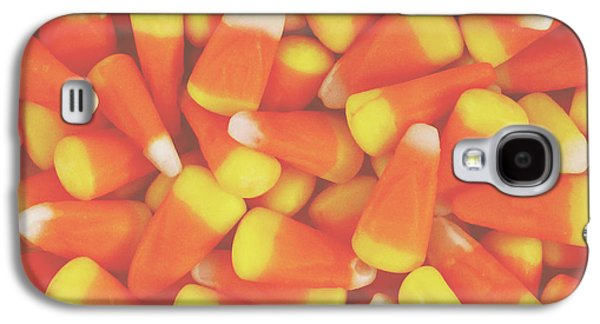 Candy Corn Square- By Linda Woods Galaxy S4 Case by Linda Woods