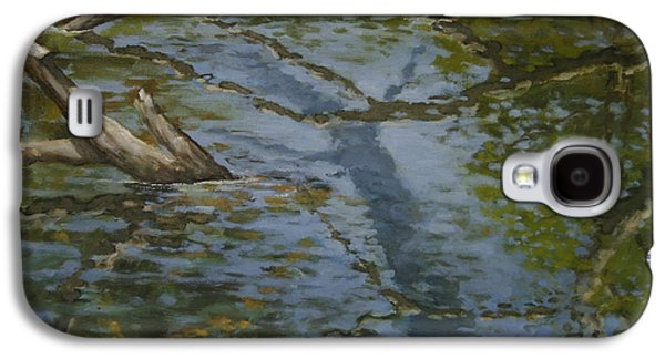 Canoe Painting 1 Galaxy S4 Case by Jason Sawtelle