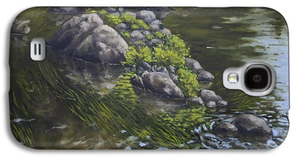 Canoe Painting 10 Galaxy S4 Case by Jason Sawtelle
