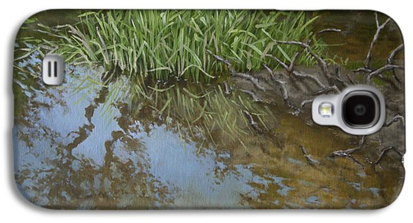 Canoe Painting 7 Galaxy S4 Case by Jason Sawtelle