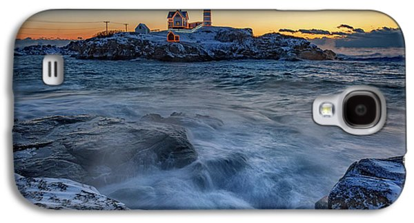 Cape Neddick In The Cold Galaxy S4 Case by Rick Berk