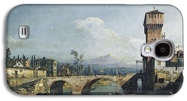 Capriccio With A River And Bridge Galaxy S4 Case by Bernardo Bellotto