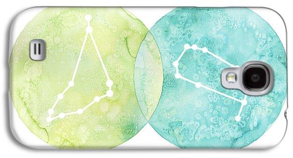 Capricorn And Gemini Galaxy S4 Case by Stephie Jones