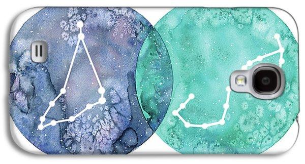 Capricorn And Scorpio Galaxy S4 Case by Stephie Jones