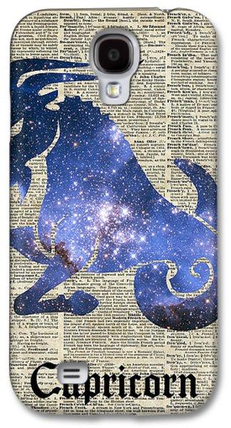 Capricorn Goat Horned - Zodiac Sign Galaxy S4 Case by Jacob Kuch