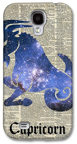 Capricorn Goat Horned - Zodiac Sign Galaxy S4 Case