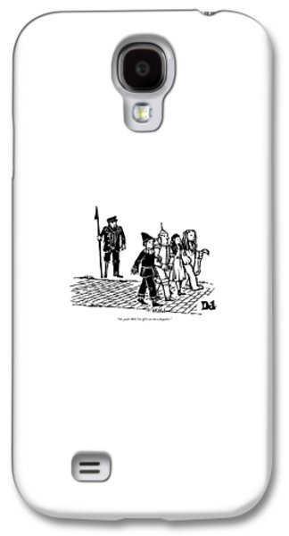 Wizard Galaxy S4 Case - Captain Ahab Stands Speaking At The Yellow Brick by Drew Dernavich