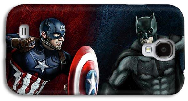 Captain America Vs Batman Galaxy S4 Case